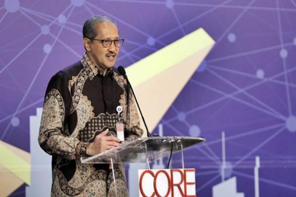 Deputi Gubernur Bank Indonesia Dody Budi Waluyo memberikan paparan dalam pembukaan CORE Economic Outlook 2019 bertajuk Memperkuat Ekonomi di tengah Tekanan Global, di Jakarta, Rabu (21/11/2018). - JIBI/Felix Jody Kinarwan