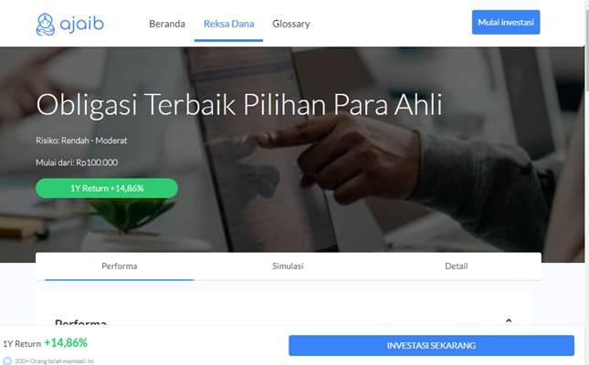 Tangkapan layar invest.ajaib.co.id