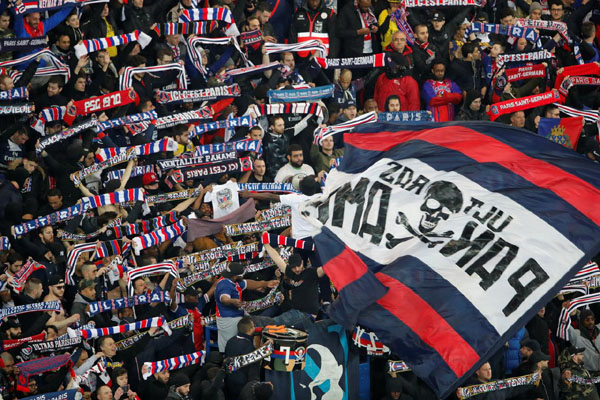 Suporter Paris Saint-Germain - Reuters/Charles Platiau