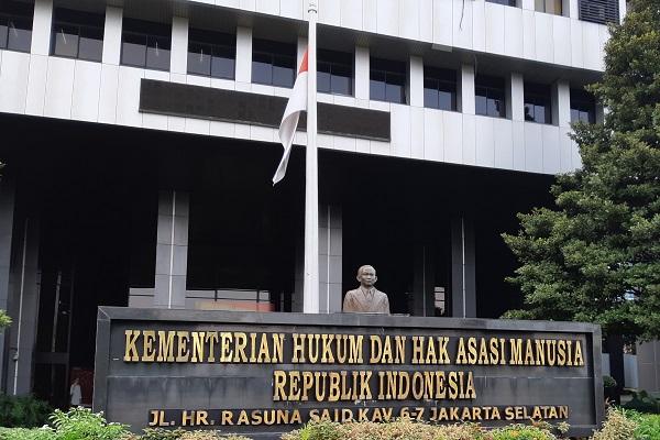Gedung Kementerian Hukum dan Hak Asasi Manusia RI di Jakarta. -Bisnis.com - Samdysara Saragih