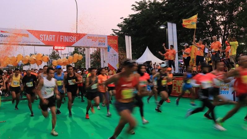 PT Bank Danamon Indonesia Tbk. menggelar Danamon Run 2019, Minggu (10/11/2019). - Istimewa