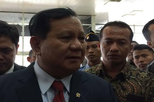 Menteri Pertahanan Prabowo Subianto di gedung DPR, Senin (11/11/2019). JIBI/Bisnis - Jaffry Prabu Prakoso