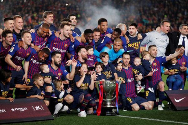 Barcelona juara La Liga 2018 - 2019 - Reuters/Albert Gea