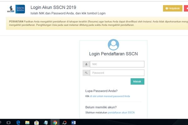 website sscn.bkg.go.id