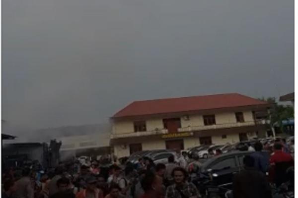 Bom bunuh diri terjadi di Polrestabes Medan, Rabu (13/11/2019) pagi. - Istimewa