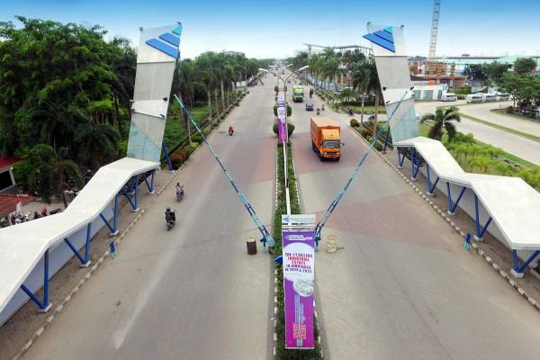 Kawasan ModernCikande Industrial Estate, Serang, Banten, yang dikembangkan oleh PT Modern Industrial Estat. - Bisnis
