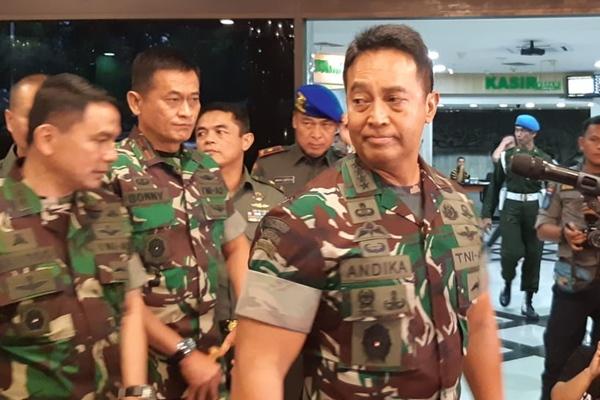 Kepala Staf TNI Angkatan Darat Jenderal Andika Perkasa di RSPAD Gatot Soebroto Jakarta, Jumat (11/10/2019) - Bisnis/Rayful Mudassir