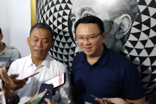 Basuki Tjahaja Purnama (BPT) dan Ketua DPRD DKI Jakarta Prasetio Edi Marsudi/JIBI - Bisnis/Muhamad Wildan