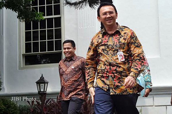 Gubernur DKI Jakarta Basuki Tjahaja Purnama di Istana Kepresidenan Jakarta, Jumat (15/5/2015). - JIBI/Akhirul Anwar