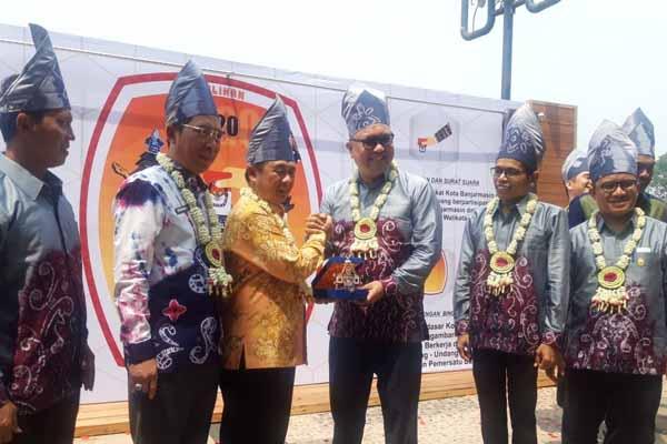 KPU Kota Banjarmasin melaunching tahapan Pemilihan Calon Walikota dan Wakil Walikota Banjarmasin Tahun 2020 - Arief Rahman
