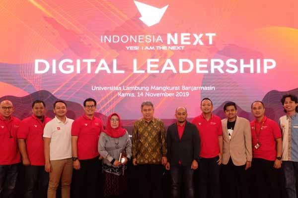 Manajemen Telkomsel saat pembukaan even IndonesiaNEXT 2019 di Banjarmasin - Arief Rahman