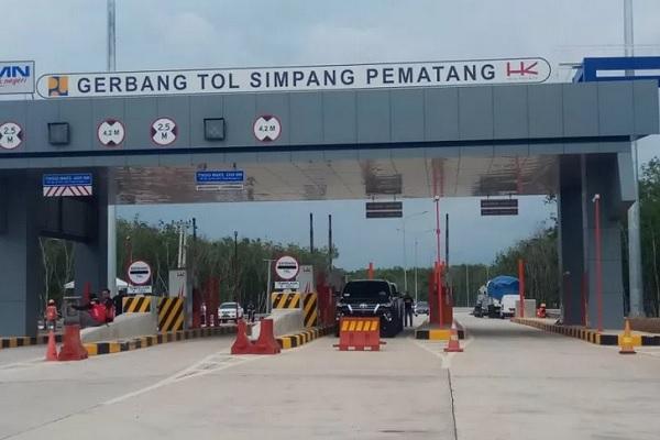 Jalan Tol Trans Sumatera ruas Terbanggi Besar-Pematang Panggang-Kayu Agung. - Antara