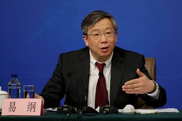 Yi Gang, Gubernur Bank Sentral China (PBOC) - Reuters
