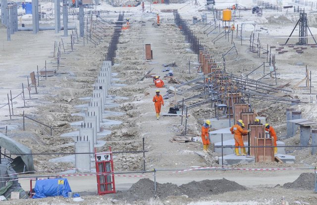 Proyek lapangan gas unitisasi Jambaran-Tiung Biru. Proyek ini ditargetkan on stream pada kuartal II/2021. - Dok. Pertamina