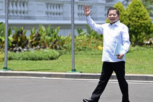 Plt Ketum PPP Suharso Monoarfa tiba di Kompleks Istana Kepresidenan di Jakarta, Selasa (22/10/2019) - ANTARA FOTO/Puspa Perwitasari