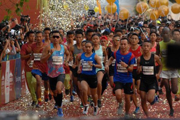 Borobudur Marathon 2018. - Antara/Anis Efizudin