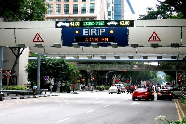 Ilustrasi electronic road pricing di Singapura. - Istimewa