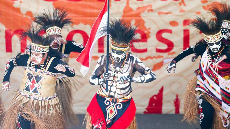 Sajian tarian Papua di Festival Indonesia di Canberra, Australia. - KBRI Canberra