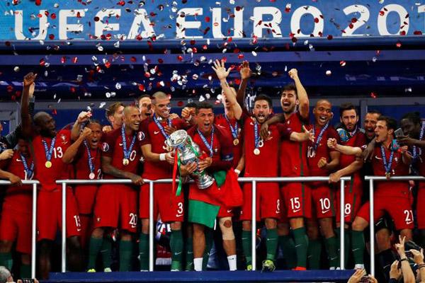 Portugal juara Euro 2016. - Reuters