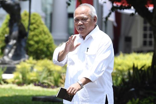 Menteri PUPR Basuki Hadimuljono. - Antara/Puspa Perwitasari