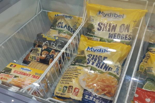 Salah satu produk kentang olahan asal Belgia yang dipasarkan di Indonesia. - Bisnis/Rezha Hadyan