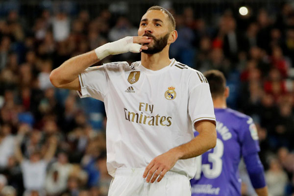 Penyerang Real Madrid Karim Benzema - Reuters/Susana Vera