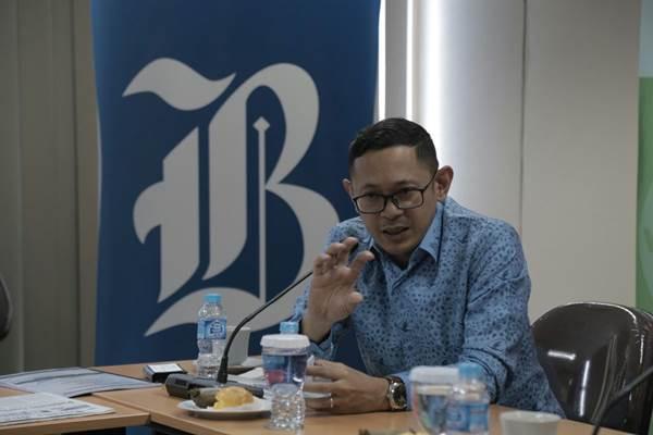 Ketua Umum DPP Organda yang juga Direktur PT Blue Bird Tbk Andre Djokosoetono berkunjung ke kantor Redaksi Harian Bisnis Indonesia di Jakarta. JIBI Bisnis/Nurul Hidayat