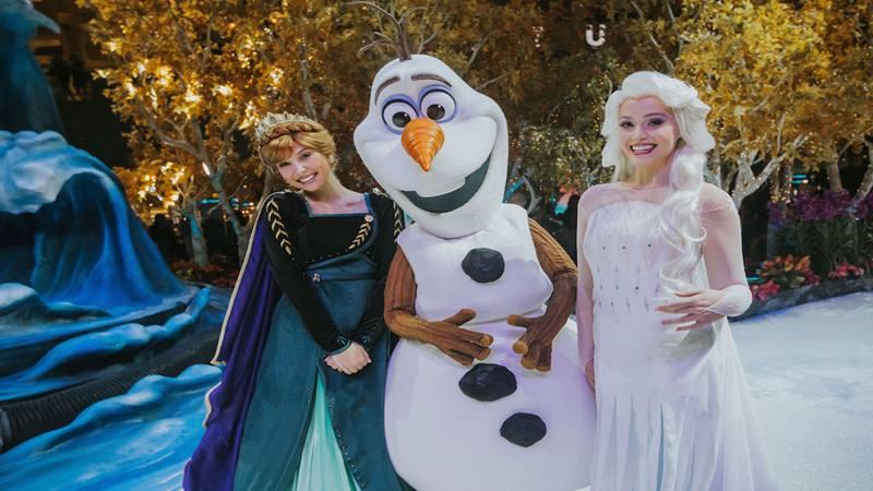 Bandara Changi Singapura akan menghadirkan atraksi negeri ajaib yang terinspirasi dari film Disney's Frozen 2 pada musim liburan akhir tahun ini.  - Istimewa