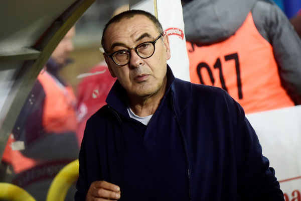 Pelatih Juventus Maurizio Sarri - Reuters/Massimo Pinca
