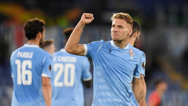 Striker Lazio Ciro Immobile - Reuters/Alberto Lingria