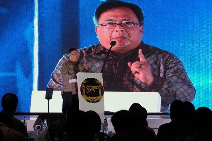 Menteri Riset dan Teknologi / Kepala Badan Riset dan Inovasi Nasional (BRIN) Bambang Permadi Soemantri Brodjonegoro menyampaikan pandangannya dalam Asia Sustainability Reporting Rating (ASRRAT) 2019 ke-15 dan Konferensi Praktisi Keberlanjutan ke-4 di Nusa Dua, Bali, Sabtu (23/11/2019). - ANTARA/Nyoman Hendra Wibowo