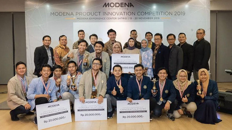 Para juara Modena Product Innovation Competition 2019. - Istimewa