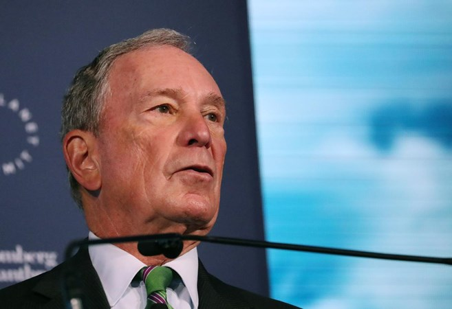 Pengusaha dan mantan Walikota New York City Michael Bloomberg berbicara pada pembukaan Forum Bisnis Global Bloomberg di New York, AS, pada 26 September 2018. -  REUTERS/Shannon Stapleton