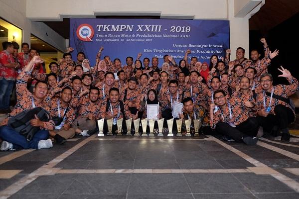 Deretan penghargaan yang diterima Pupuk Kaltim dalam ajang Temu Karya Mutu dan Produktivitas Nasional (TKMPN) XXIII. - JIBI/Istimewa