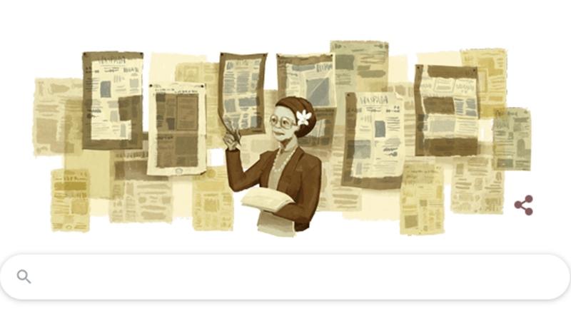 Tangkapan layar google doodle, Ani Idrus