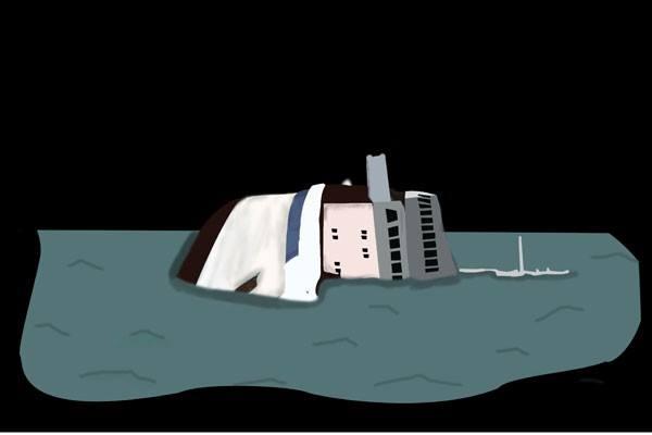Ilustrasi kapal tenggelam - Antara