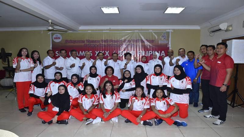 Timnas bola voli Indonesia akan berlaga pada ajang Sea Games 2019 Manila. - Istimewa