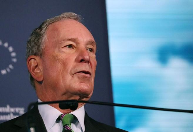 Pengusaha dan mantan Walikota New York City Michael Bloomberg berbicara pada pembukaan Forum Bisnis Global Bloomberg di New York, AS, pada 26 September 2018. -  REUTERS/Shannon Stapleton