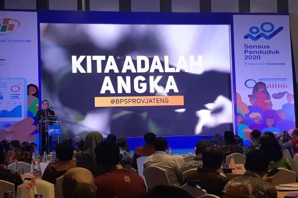 Kepala Badan Pusat Statistik Kecuk Suhariyanto membuka Sosialisasi dan Rakornis SDGs dan Sensus Penduduk 2020 di Hotel Harris Vertu, Harmoni, Selasa (26/11/2019). (Bisnis - Gloria F.K. Lawi)