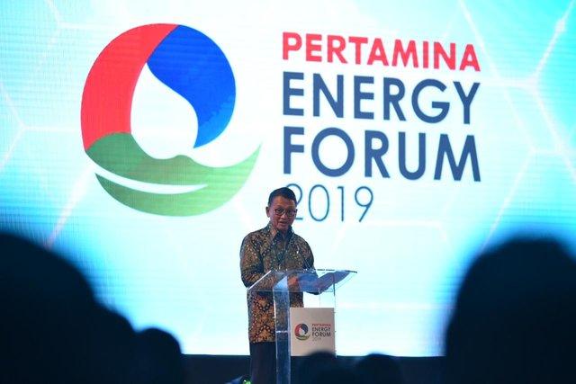 Menteri ESDM Arifin Tasrif memberikan sambutan dalam acara Pertamina Energy Forum 2019, Selasa (26/11/2019). - Istimewa