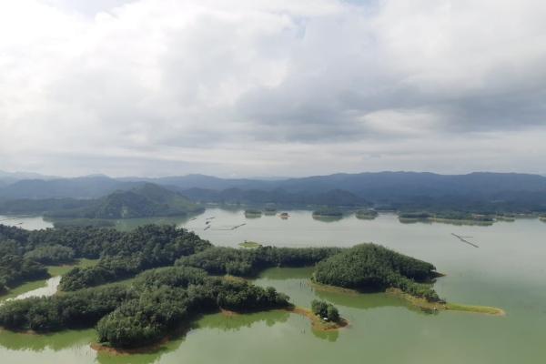 Objek wisata Ulu Kasok di Waduk Koto Panjang, Bangkinang, Provinsi Riau. - Bisnis/Foto/foto: Himawan l. Nugraha