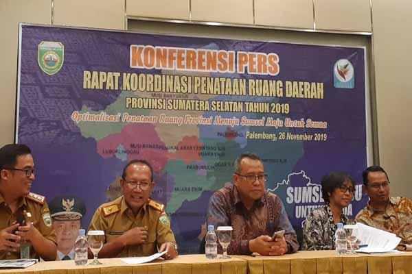 Pemprov Sumatra Selatan bersama pemerintah pusat dan ZSL Indonesia memberikan pemaparan terkait penataan ruang di Sumsel. Bisnis - Dinda Wulandari