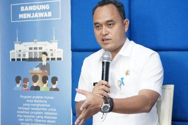 Kepala Bidang Penelitian dan Pengembangan Bappelitbang Kota Bandung, Yuliandri Rahadiyanto - Bisnis/Dea Andriyawan