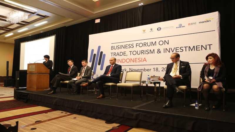 Perwakilan PT Bank Rakyat Indonesia (Persero) Tbk. dalam Business Forum on Trade, Tourism & Investment Indonesia di New York, AS. - Bisnis/istimewa