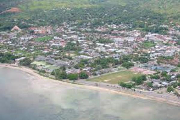 Kabupaten Sorong tampak dari udara.