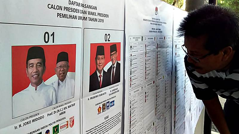 Suasana di salah satu Tempat Pemungutan Suara (TPS) Pemilu 2019. - Bisnis/Wahyu Darmawan