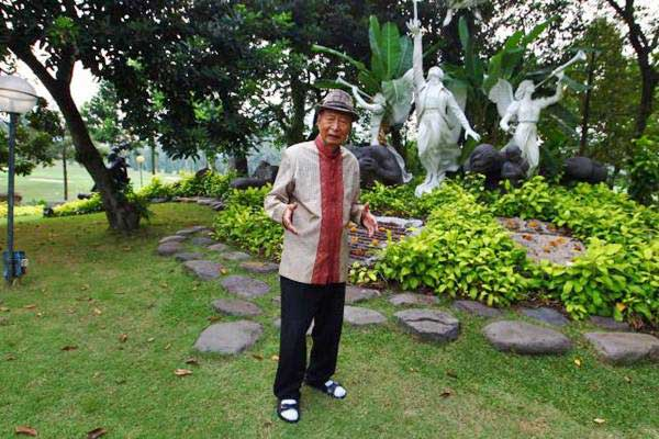 Chairman Ciputra Group, Ciputra, di Jakarta, Senin (14/8). - JIBI/Dwi Prasetya