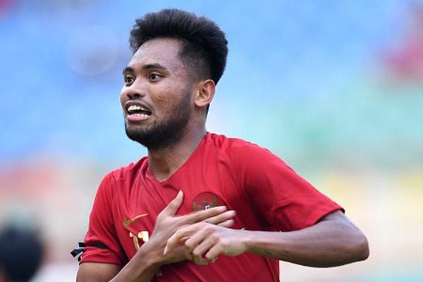 Pemain sayap Timnas Indonesia U-23 yang bertarung di Sea Games 2019, Saddil Ramdani - Antara/Sigid Kurniawan