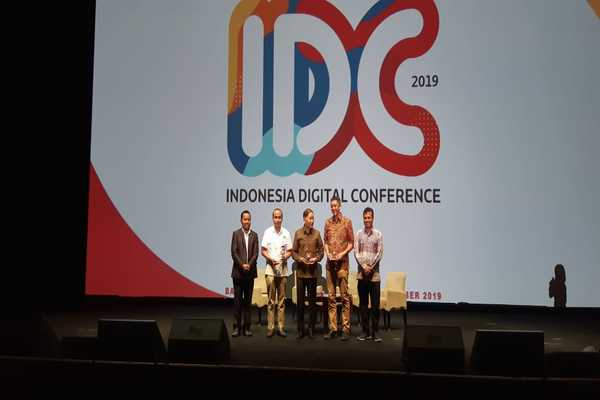 Pembukaan Indonesia Digital Conference )IDC) 2019 di Jakarta, Kamis (28/11/2019). - Bisnis/Rahmad Fauzan