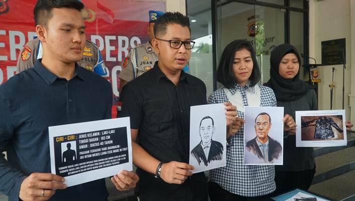 Polres Bogor merilis sketsa wajah tersangka pelaku pembunuhan yang mayat korbannya dimasukkan ke dalam koper dan dibuang ke semak-semak di Kampung Teluk Waru, Desa Curug Bitung, Kecamatan Nanggung, Bogor. - Istimewa